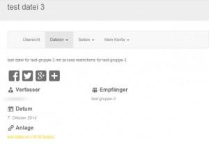 Kundenbereich Frontend Übersicht erstellter Dateien mit korrekter Ausgabe Owner