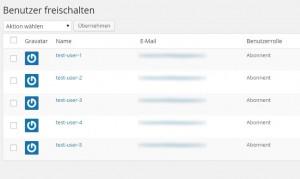 Plugi Confirm User Registration - Benutzer freischalten