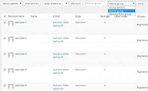 Mehrere WordPress Benutzer einer Gruppe hinzufügen