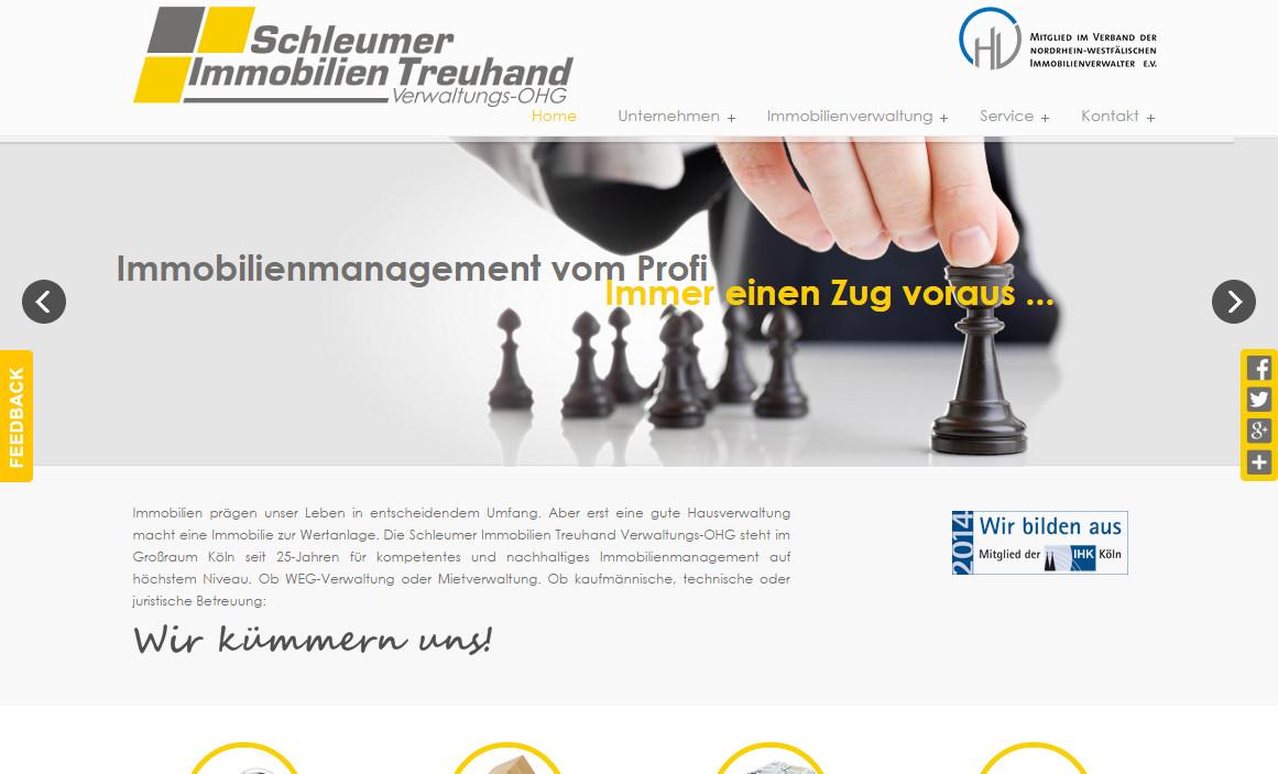 Hausverwaltung Köln Schleumer Immobilien Treuhand Verwaltungs-OHG