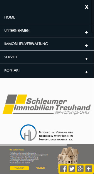 Mobilversion Website Relaunch Hausverwaltung Köln