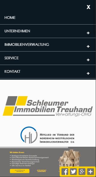 Mobilversion Website Relaunch Hausverwaltung Köln