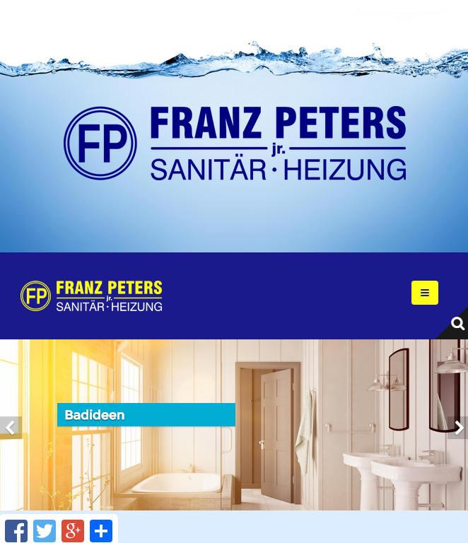 Franz Peters Jr. - Sanitär & Heizung, Köln - da Agency, Webdesign ...