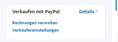 paypal konto verkaufen mit paypal