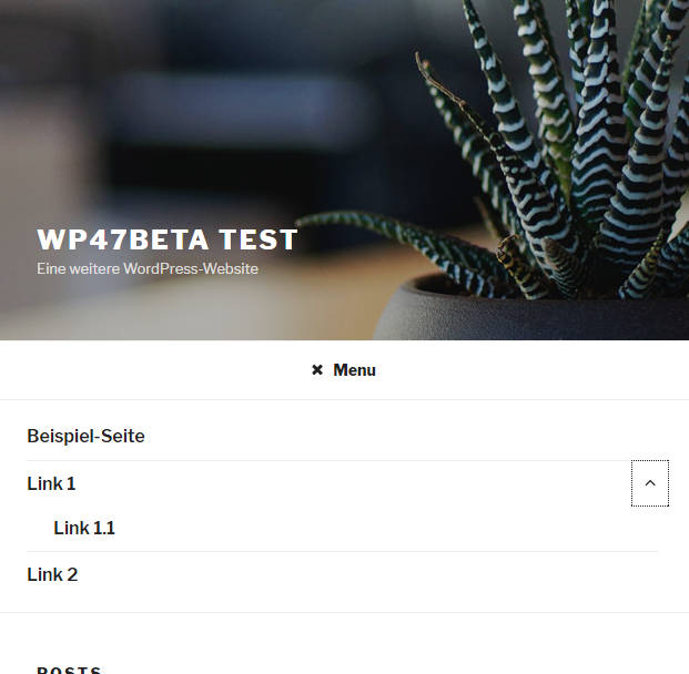 wordpress 4.7 beta 3 themes twenty seventeen demopage mobile