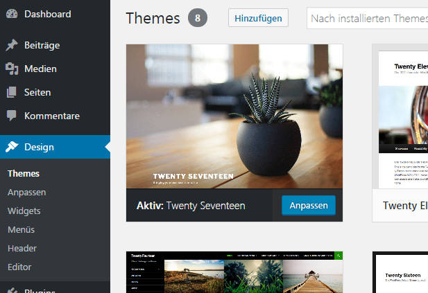 wordpress 4.7 beta 3 themes twenty seventeen