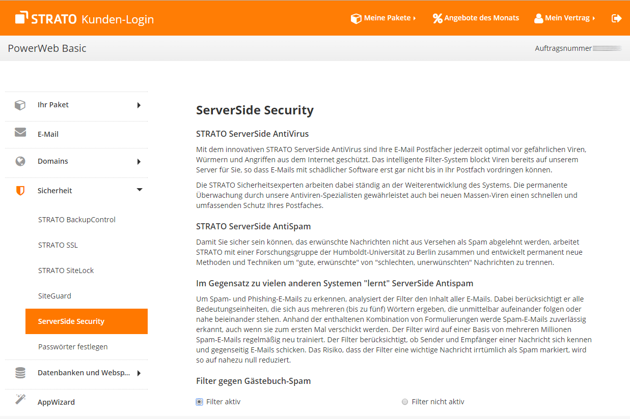 503 http error service unavailable strato webpaket serverside-security settings