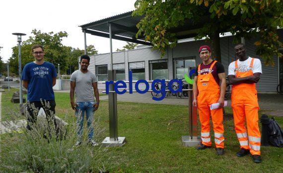 Auszubildende 2018 bei der RELOGA, Leverkusen, NRW