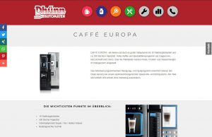 caffe europa - verboten große auswahl an gerichten am kaffeeaut-o-mat von koelner automaten aufsteller
