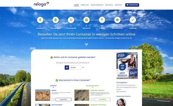 container bestellen, container mieten - neuer bestellprozess für container beim reloga containerdienst