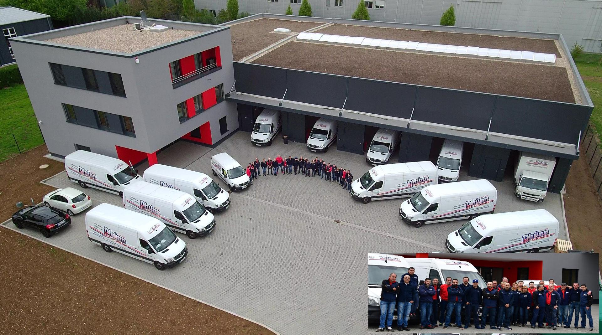 Kein Test - Gelände der Dhünn Automaten GmbH. Snackautomaten, Getränkeautomaten, Kaffeeautomaten