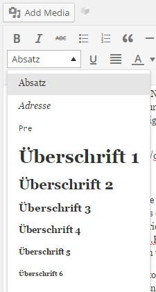 neue-seite-erstellen-editor-werkzeugleiste-absatz-ueberschriften